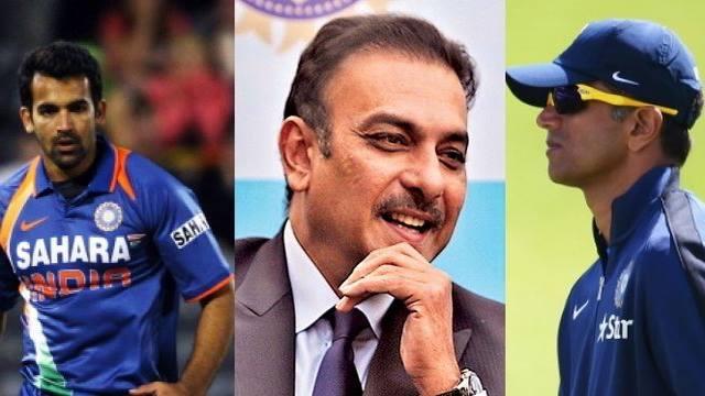 BCCI confirms Ravi Shastri  as head coach,Dravid named India batting coach, Zaheer bowling coach