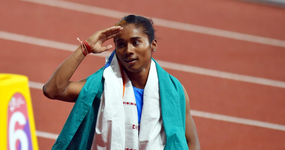 Indian sprinters Hima Das, Mohammad Anas bag gold