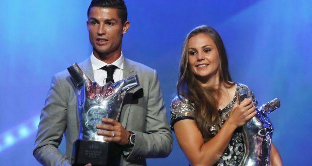 Cristiano Ronaldo, Lieke Martens wins UEFA Player of the Year awards