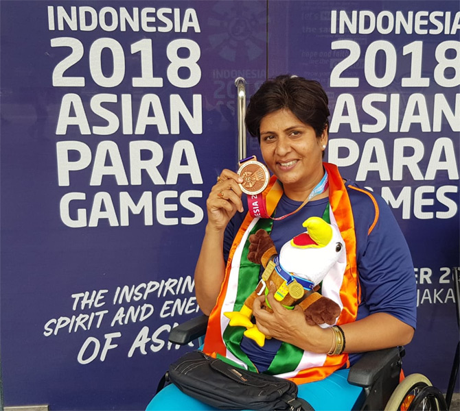 Deepa wins 2nd bronze in Asian Para Games