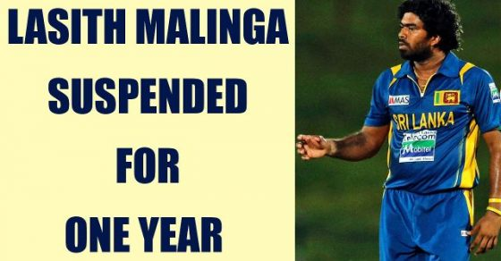 Lasith Malinga suspended for one year