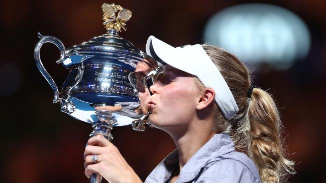 Australian Open 2018: Wozniacki beats Halep to win first Grand Slam title