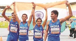 worldathleticsu20championships:indiawinbronzemedalin4x400metremixedrelayteamevent