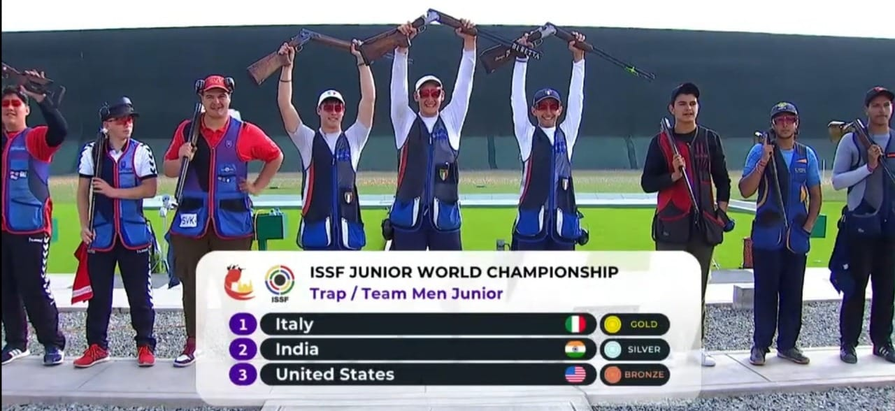 India wins silver in at the ISSF SHOOTING  Junior world Championship 2021.