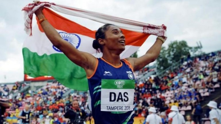 Hima Das wins gold medal in Tabor Athletics Meet