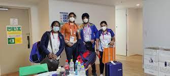 tokyoolympics:firstbatchofindianathleteslandintokyo