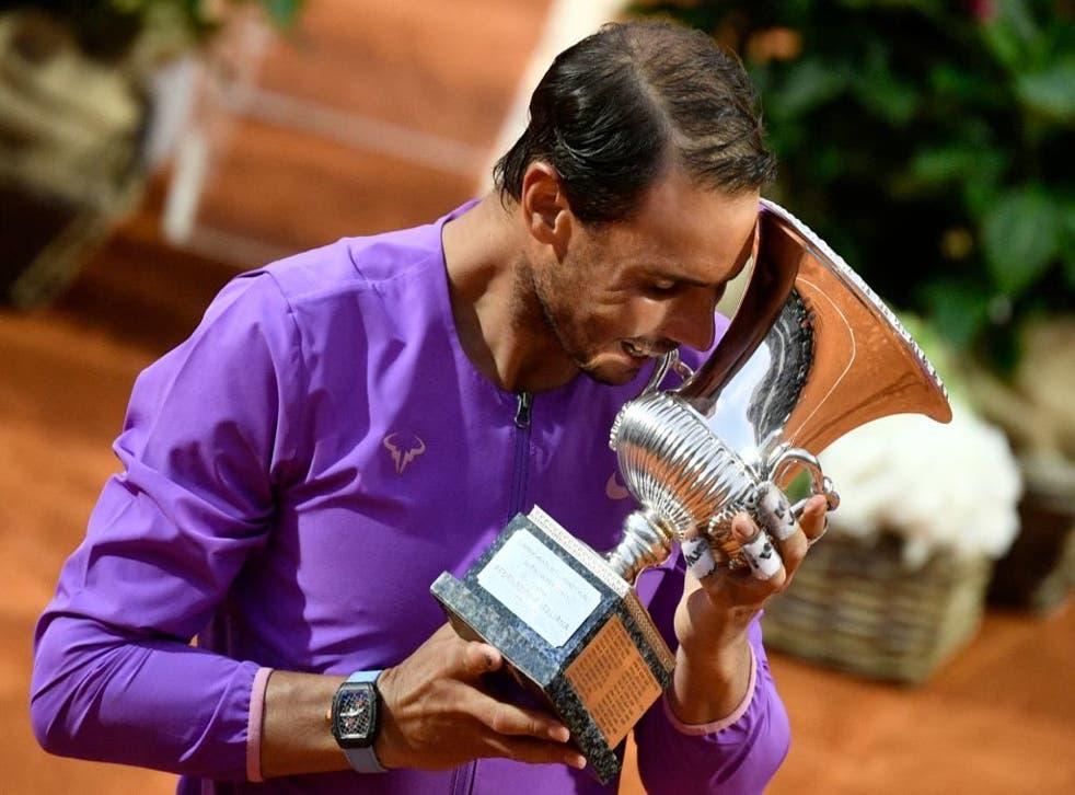 Rafael Nadal beat Novak Djokovic to win Italian Open title