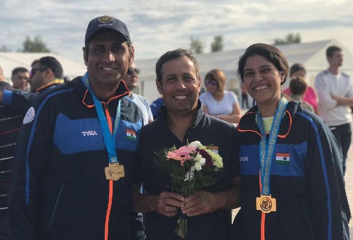 Mairaj-Rashmmi pair bags gold at Asian Shotgun Championship