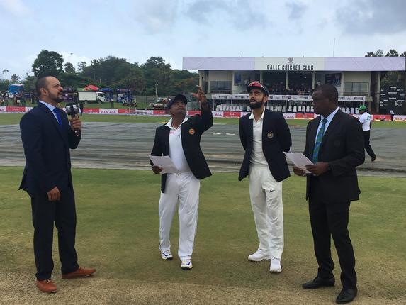 Kohli wins toss, opts to bat against Sri Lanka in 1st Test