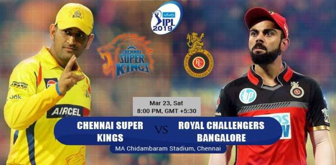 Chennai to clash with Bangalore in the opening match of IPL today