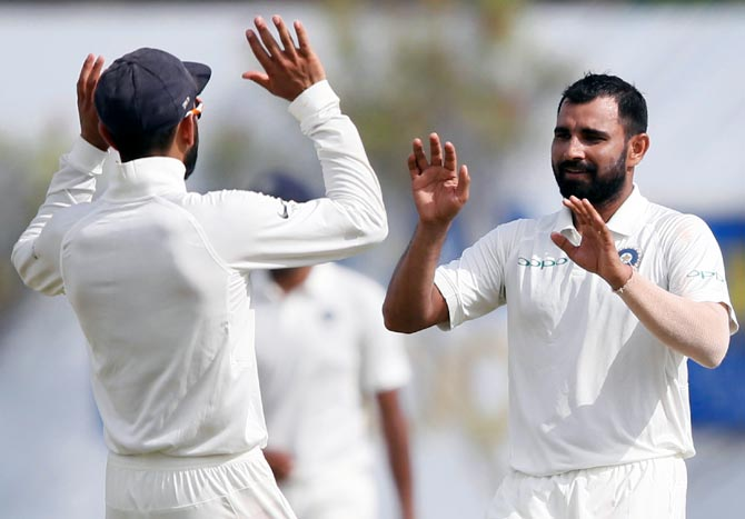 1 st test Day 2 : Pandya, pacers put India in command against Lanka
