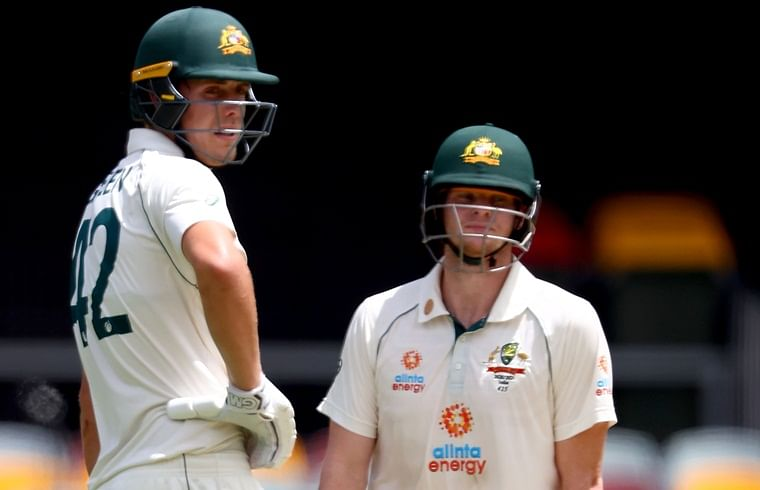 Australia were 243 for 7 against India in their second innings at Brisbane