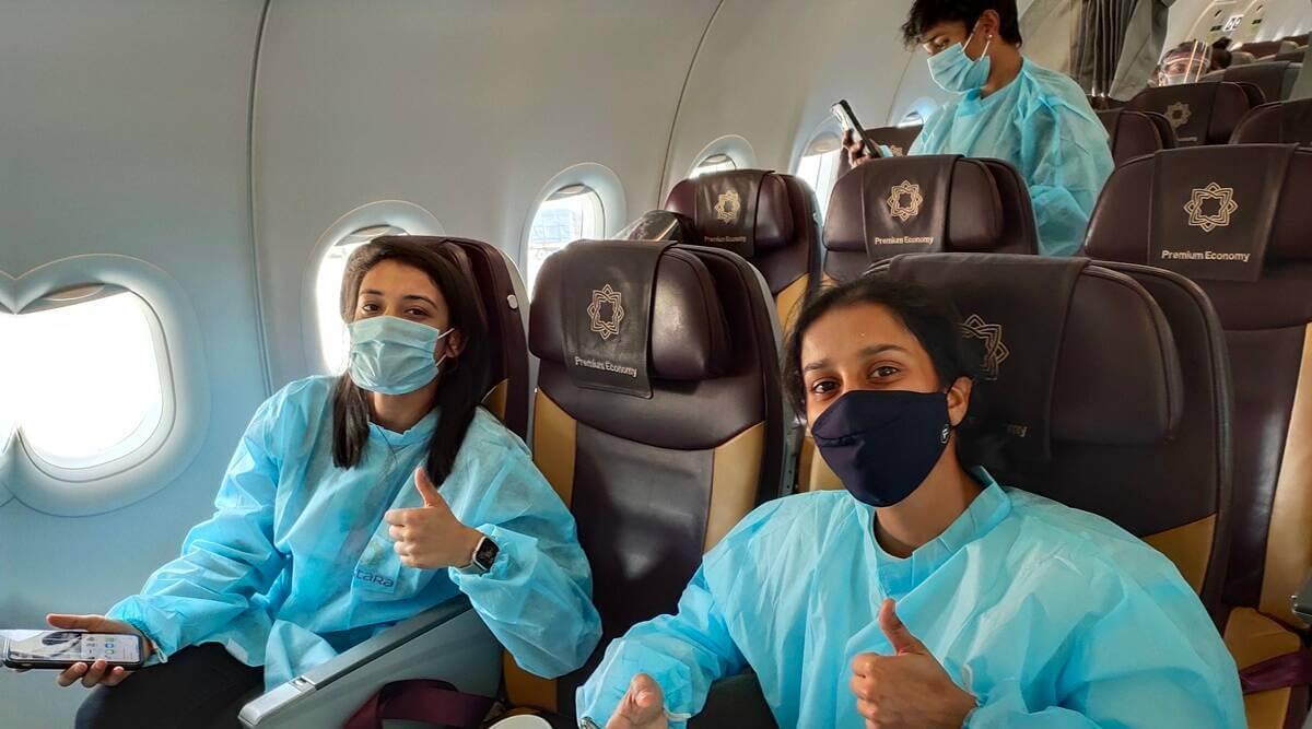 Indian women's contingent arrive in UAE ahead of Women