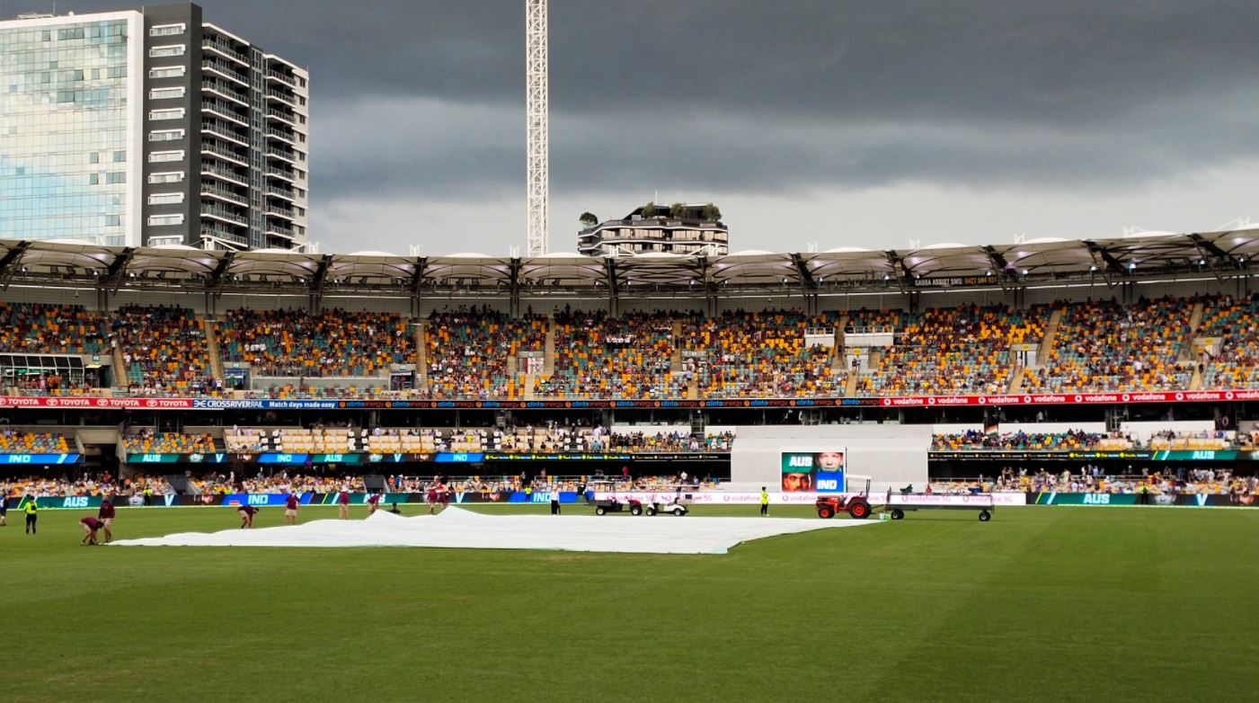 Ind vs Aus Test match: Wet outfield delays start of play after Tea