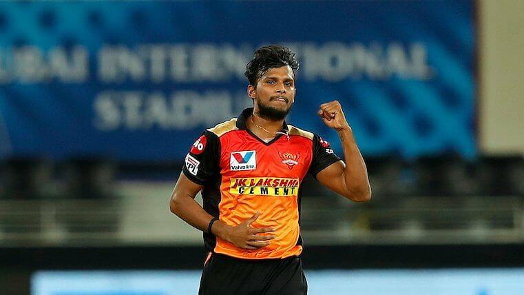 SRH fast bowler T Natarajan ruled out of entire IPL 2021 due to knee injury