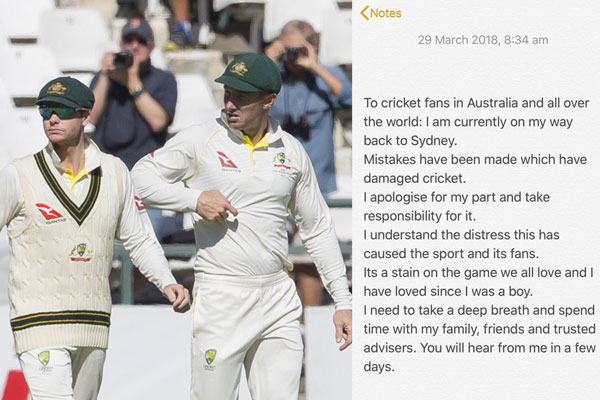 David Warner removed himself from a WhatsApp group comprising Australian players.