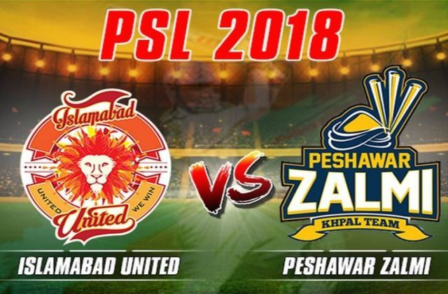 Peshawar Zalmi to clash with Islamabad United in the finals of the PSL League 2018