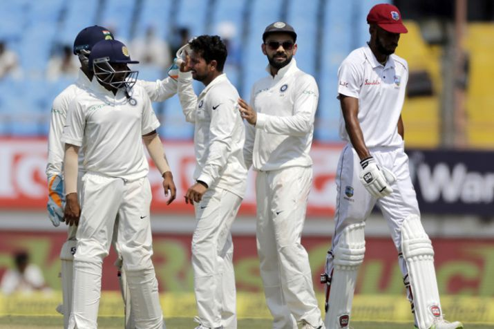 West Indies 86 for three at lunch on Day 1 of 2nd Test at Hyderabad