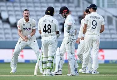 England and New Zealand draw first Test: