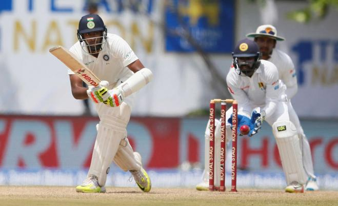 India reach 503 for 7 at lunch on day two against Sri Lanka