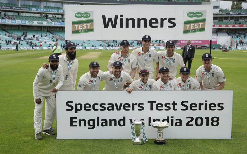 England beat India by 118 runs in the fifth Test match at London