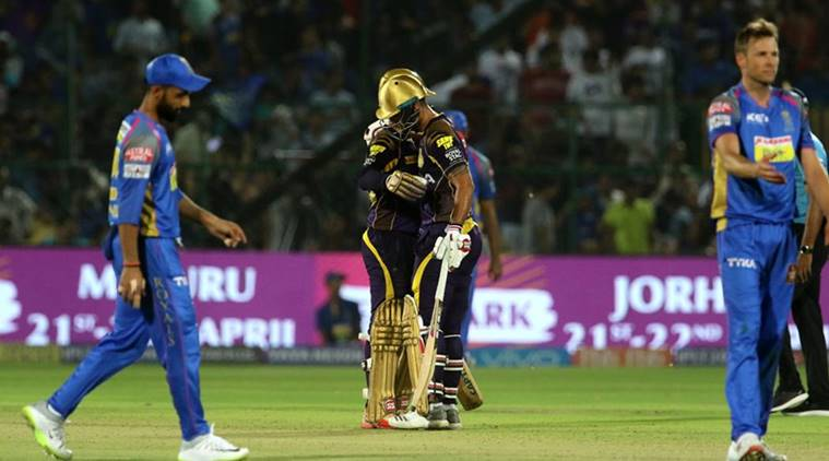 IPL 2018: Kolkata Knight Riders beat Rajasthan Royals by 25 runs in Kolkata