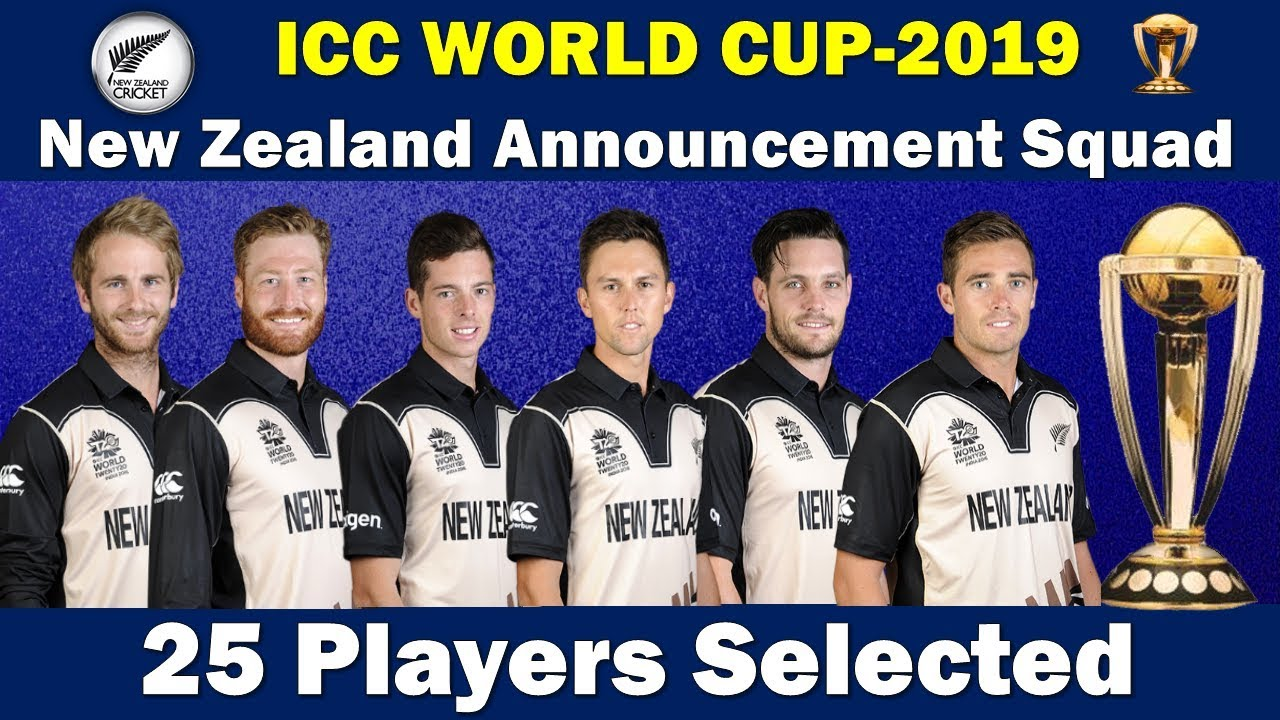 New Zealand announces World Cup squad