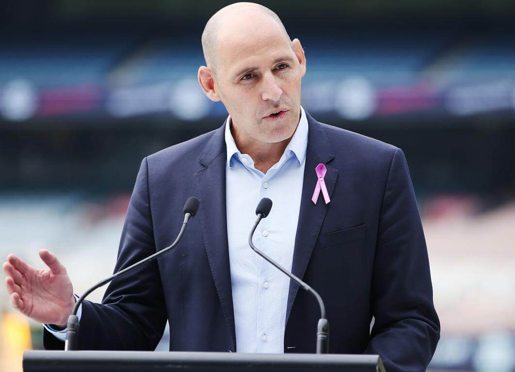 Cricket Australia Interim CEO Nick Hockley thanks