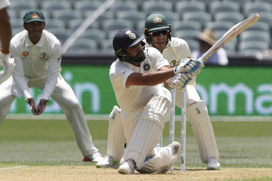 India declare the first innings at 443 for seven against Australia