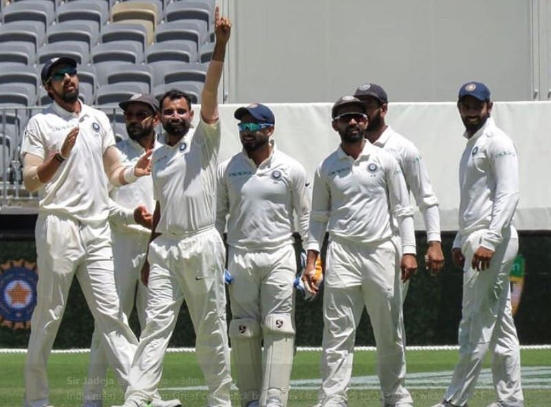 Australia were bowled out for 243 runs against India