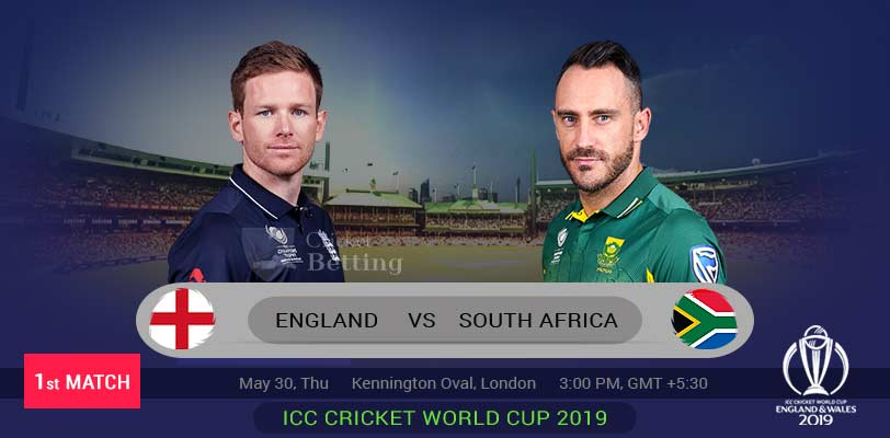 ICC World Cup 2019: South Africa win toss, opt to field against England