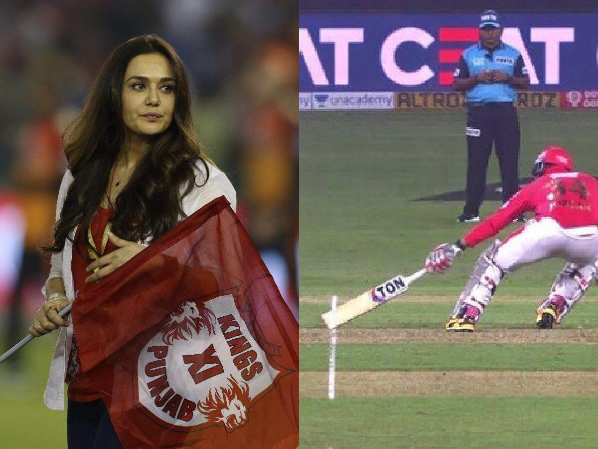 Kings XI Punjab co-owner Preity Zinta reacts to Chris Jordan
