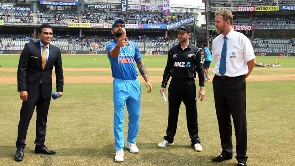 New Zealand win toss, opts  to bat first in 2nd ODI against India at Pune