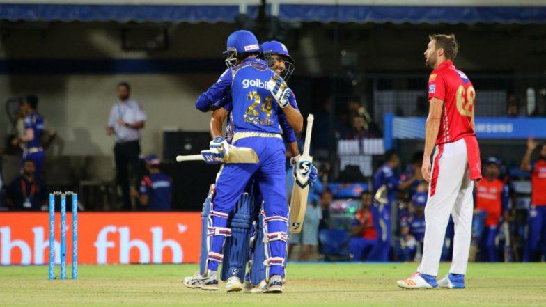 Mumbai Indians beat Kings XI Punjab by six wickets