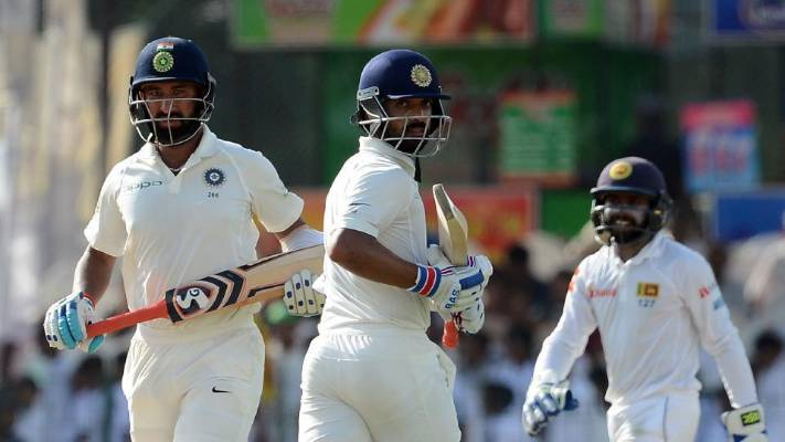 India reach 442 for five at lunch against Sri Lanka