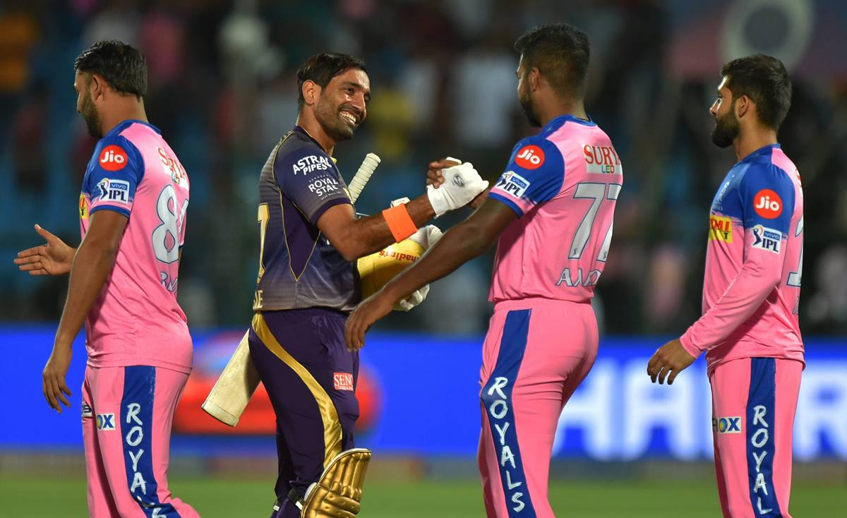 KKR beat RR by eight wickets in IPL match