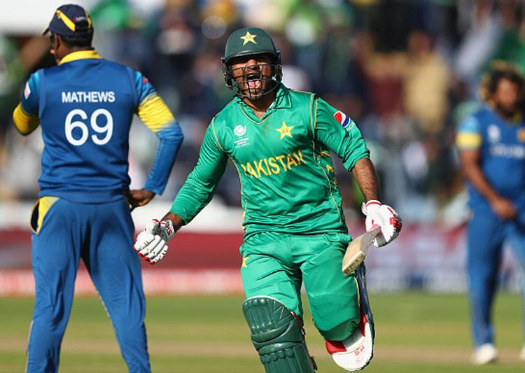 Pak notches up 3-wicket win over Sri Lanka in Champions Trophy