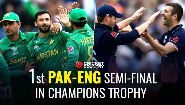 England to lock horns with Pakistan in semifinal in Champions Trophy today