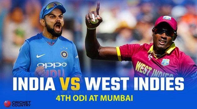 Kohli win toss, elect to bat against West Indies in the 4th ODI match at Brabourne
