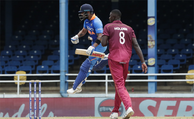 India beat West Indies by 59 runs in 2nd ODI at Port-of-Spain