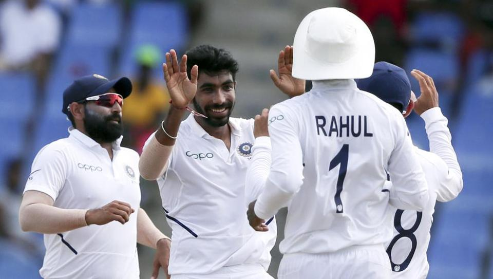 India win first test against West Indies by 318 runs