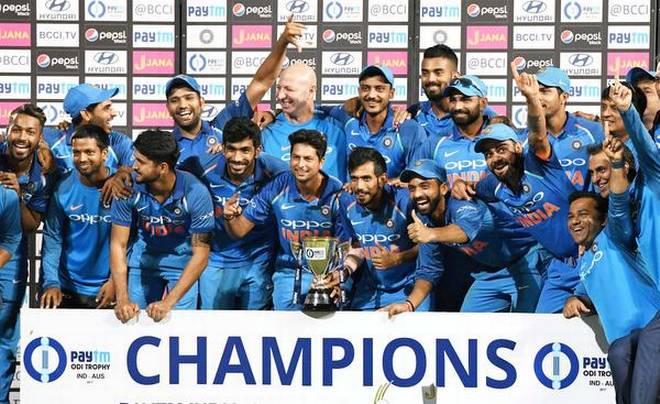 India win fifth ODI by seven wickets against Australia