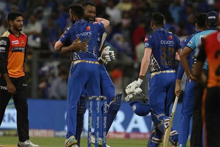 Mumbai beat Hyderabad in Super over, qualify for playoffs