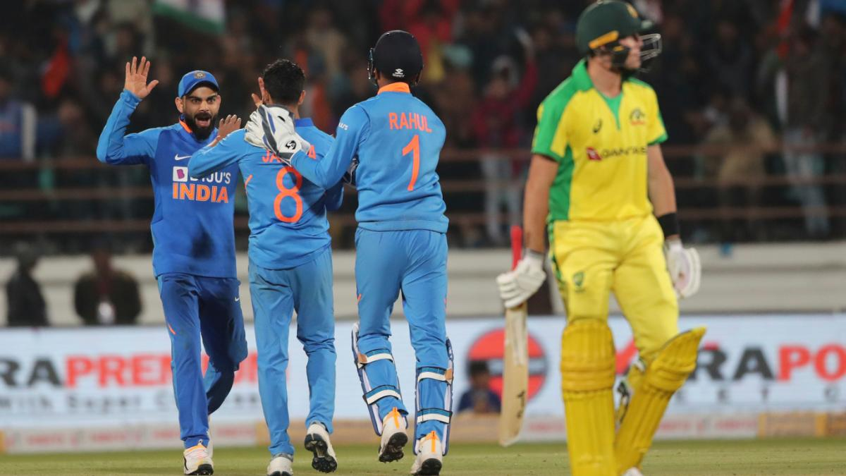 India register 36-run victory against Australia in 2nd ODI at Rajkot