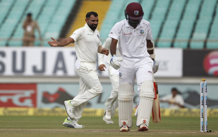 West Indies 94 for six at end of 2nd day