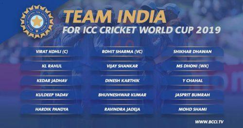 India's World Cup squad: Karthik pips Pant, Shankar in at No.4