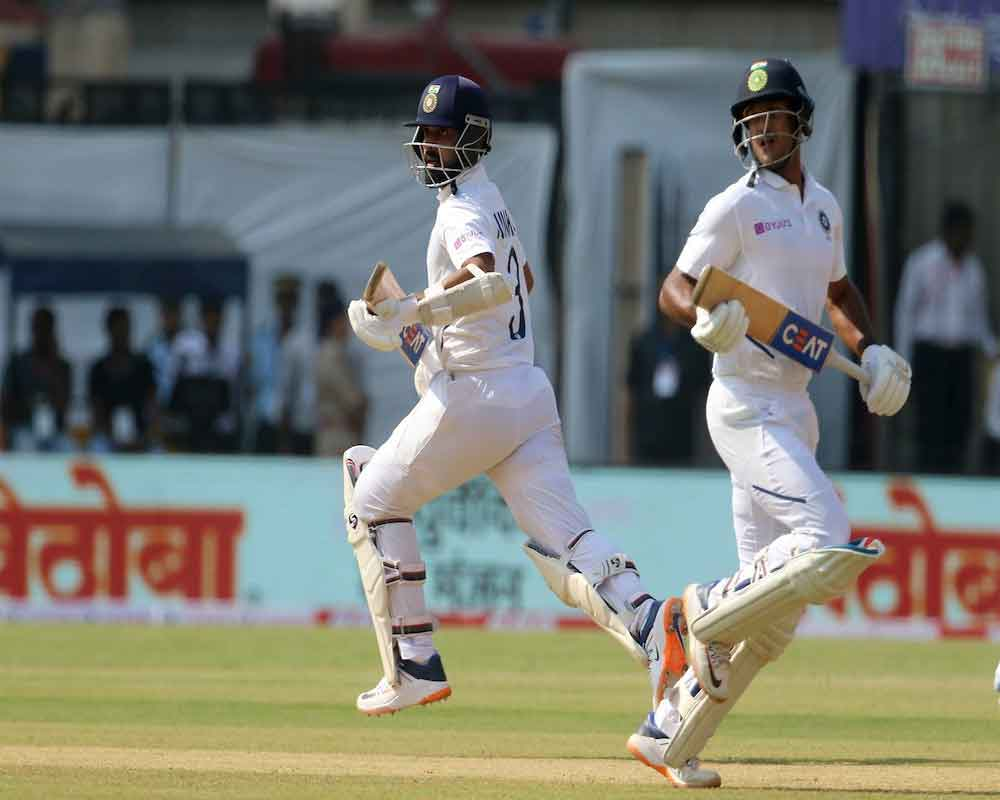 India 188 for three at lunch on Day 2 against Bangladesh