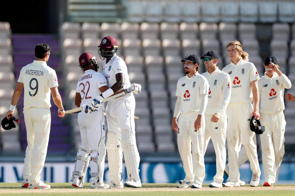 West Indies beat England by four wickets in the first Test match