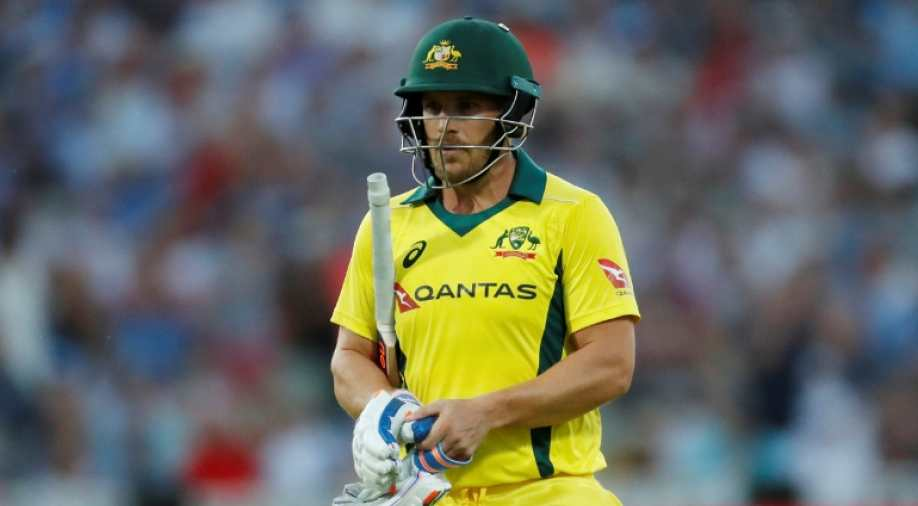 Australia captain Aaron Finch out for a duck in 100th ODI