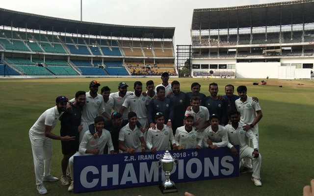 Vidarbha beat Rest of India to retain Irani Cup